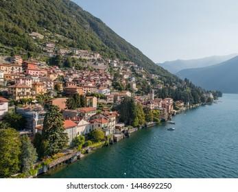 Village on Como lake in Italy. Small village of Carate Urio near Cernobbio
