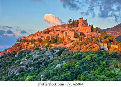 Village on a hill, in France.
