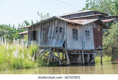 Village on Inle lake, Myanmar
