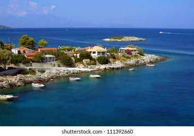 village on peninsula, Zakynthos, Ionian Island in Greece