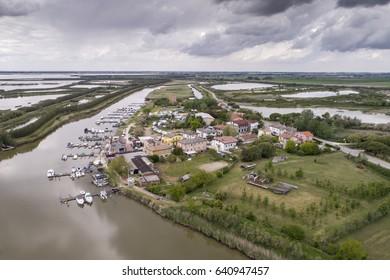 Village on Po river