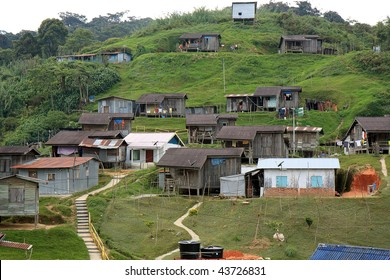A village of one of the native people of Malaysia at Cameron Highlands; equipped with modern amenities such as electricity and satelite television.
