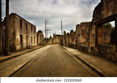 The village of Oradour sur Glane, France was destroyed in 1944, when its inhabitants were massacred by German nazi. A new village was built nearby, the original was preserved as a permanent memorial