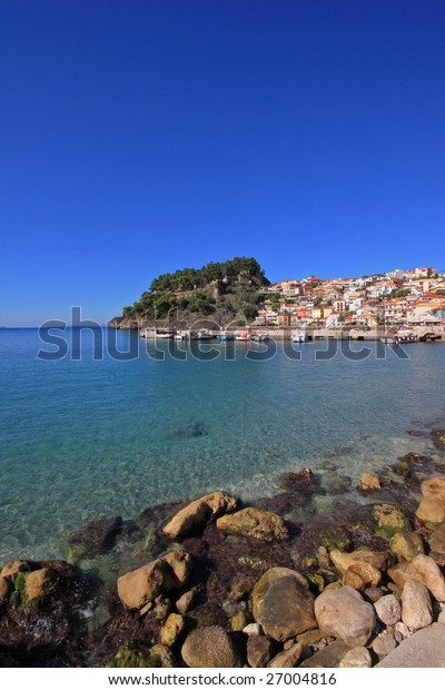 The village of Parga in Epirus Greece