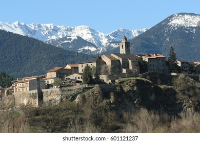 Village in Pyrenees, Catalonia region of Spain