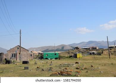 The village Ria Taza in the Armenian mountains