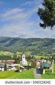 Village of Riezlern in Kleinwalsertal,Vorarlberg,Austria