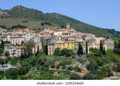 The village of Rio in Elba on Elba island, Italy