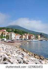 Village of Rio Marina on Island of Elba,Tuscany,mediterranean Sea,Italy
