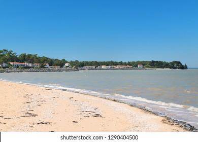 Village Rivedoux plage at island Ile de Re in France