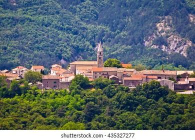 Village of Roc in istrian inland, Istria, Croatia