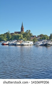 Village of Roebel at Lake Mueritzsee,Mueritz National Park,Mecklenburg Lake district,Germany