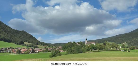 Dorf Ruhpolding in Chiemgau, Bayern, Deutschland