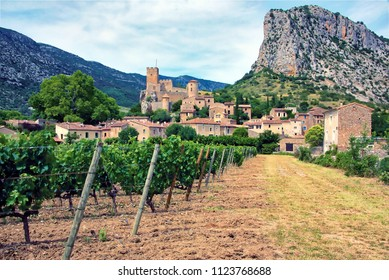 The village of Saint Jean de Bueges, in the Herault Department of the Languedoc, France