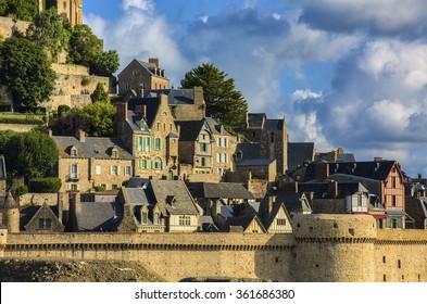 The Village of Saint Michael's Mount, Normandy, France