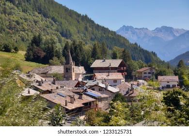 Village of Saint Rhemy high in the Italian Alps