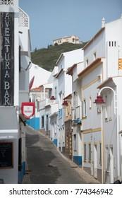 the village of Salema at the Algarve of Portugal in Europe.Portugal, Algarve, April, 2017,