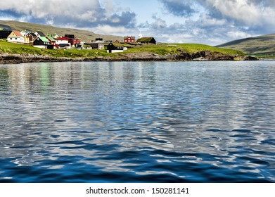 The village Sandur om Sandoy Island