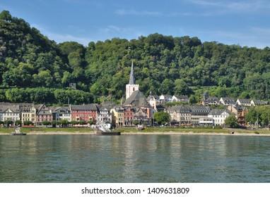 Village of Sankt Goar at Rhine River,Rhineland-Palatinate,Germany
