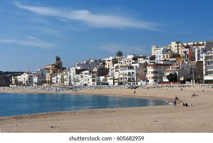 Village of Sant Pol de Mar in Barcelona province, Catalonia, Spain