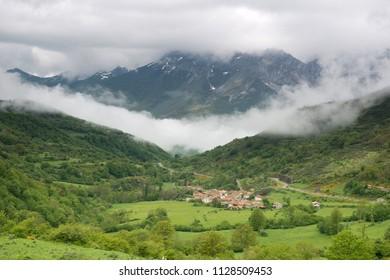 Village of Santa Marina de Valdeón National Park Picos de Europa