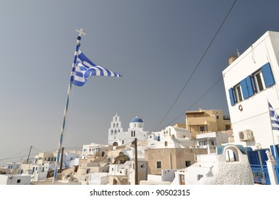 Village in Santorini, Greece