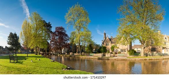 Village scene Bourton on the Water, UK