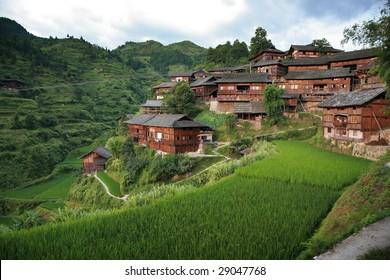 Village scenery in guizhou china
