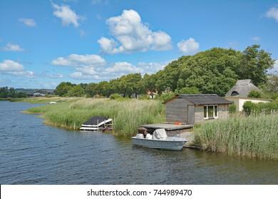 Village of Seedorf on Ruegen near Sellin at baltic Sea in Mecklenburg western Pomerania,Germany