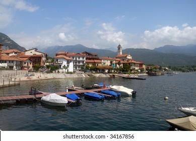 Village at the shore of Lago Maggiore