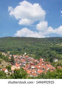 Village of Steinbach (Bad Liebenstein) in thuringian Forest,Thuringia,Germany