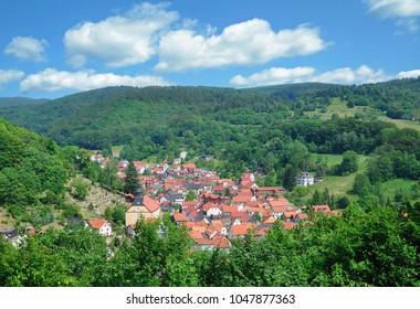 Village of Steinbach near Bad Liebenstein in thuringian Forest,Thuringia,Germany