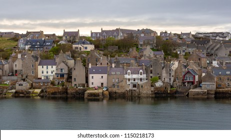 Village Stromness on the Orkney Islands