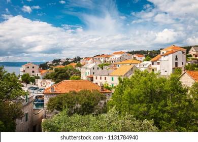 Village of Sumartin on the island of Brac, Croatia.