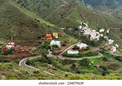 Village Taganana in Tenerife, Canary Islands, Spain