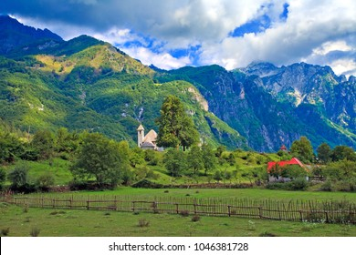 The village of Theth, Albanian Alps, Albania
