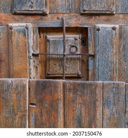 Calatañazor village traditional house door in Soria province of Castilla y Leon Autonomous Community of Spain, Europe
