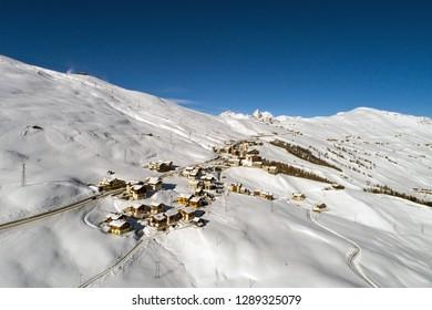 Village of Trepalle. Valtellina