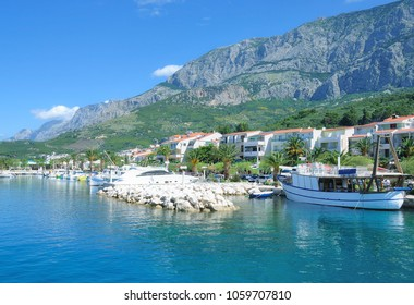 Village of Tucepi at Makarska Riviera in Dalmatia region,adriatic Sea,Croatia