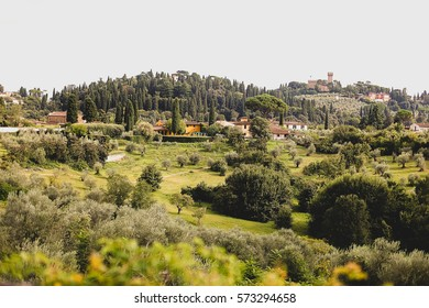Village in Tuscany, Italy. Travel and nature