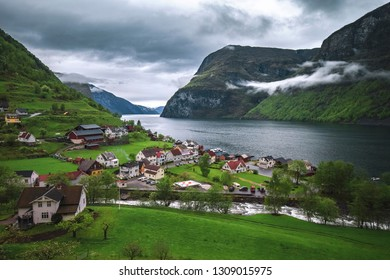 Village of Undredal in Norway