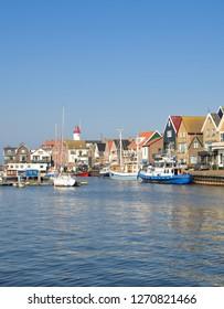 Village of Urk at Ijsselmeer,Flevoland Province,Netherlands
