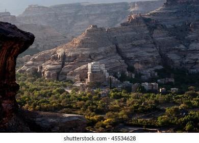 village in the valley, near Sanaa, Yemen