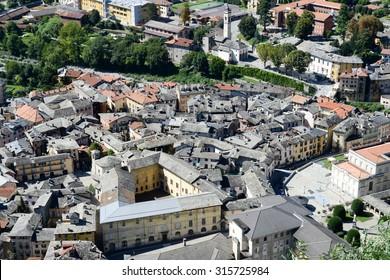 The village of Varallo Sesia on Italy