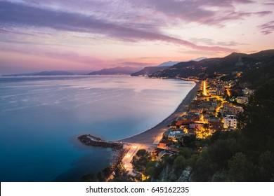 The village of Varigotti on the coast, Finale Ligure, Liguria, Savona, Italy
