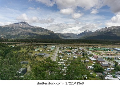 Village view from lookout in Villa O'Higgins, Patagonia Chile