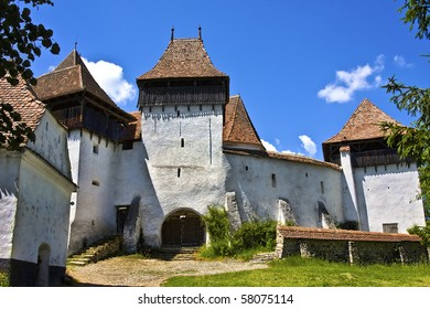 The village of Viscri in Transylvania, Romania, with a population of roughly 400 people; of which 30 are Saxon is best known for its highly fortified church, originally built around 1100 AD.