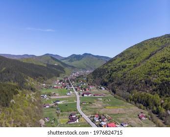 Lepșa village in the Vrancea mountains, Romania