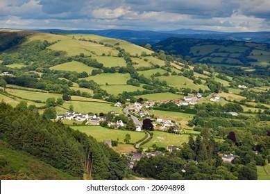 Village in Welsh valley