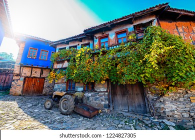 The village where the Ottoman was first settled on the UNESCO world heritage list. Old houses of Ottoman history. 700 years old Ottoman village. Cumalikizik. Bursa, Turkey.